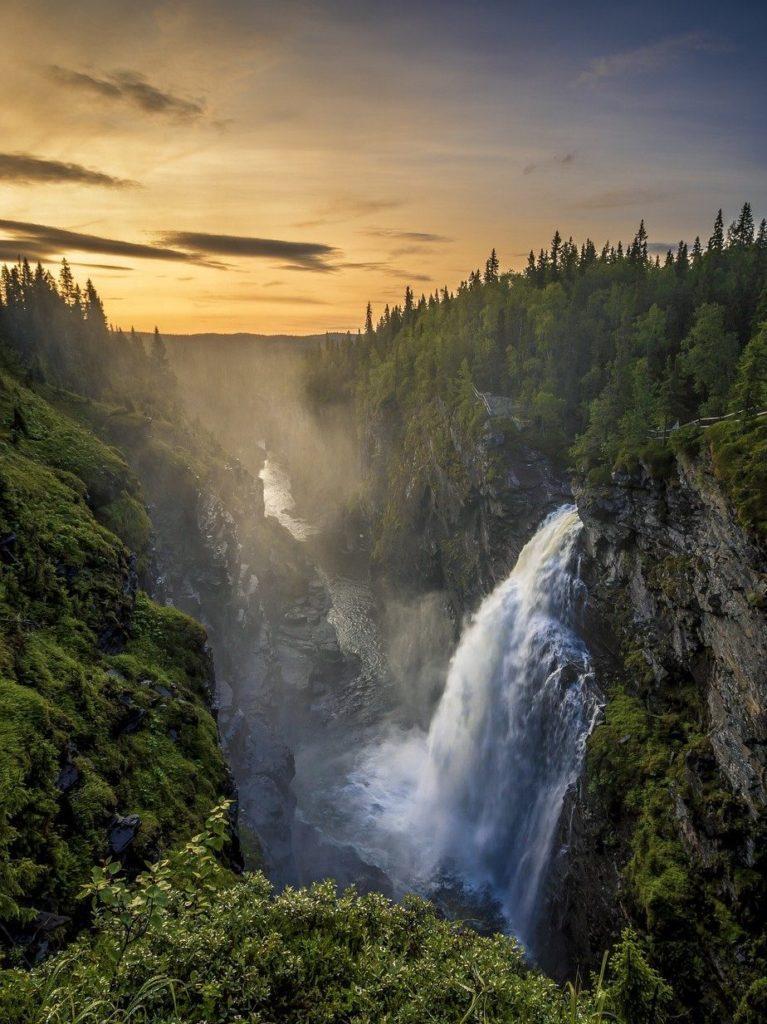 waterfall, sweden, water-5312692.jpg